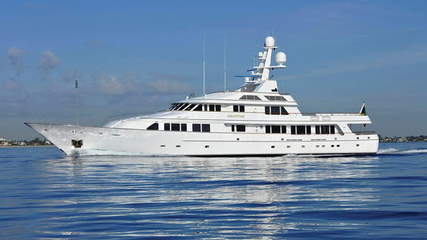 Special charter rate on motor yacht Gravitas