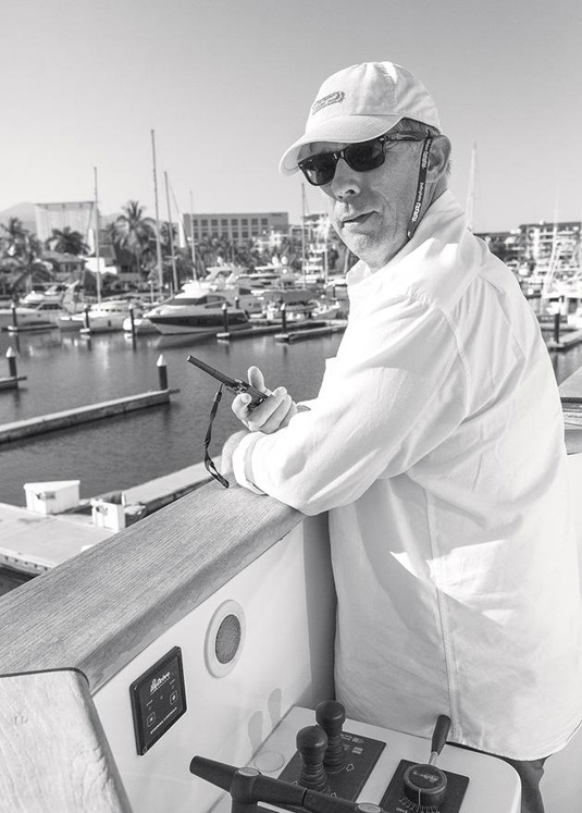 On board with Brian O'Sullivan, owner of motor yacht Komokwa