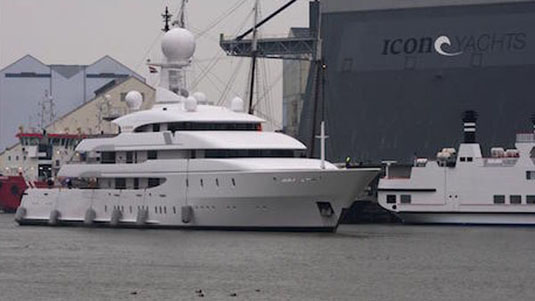 74m Ilona Return at Sea from Service at the Dutch Facility