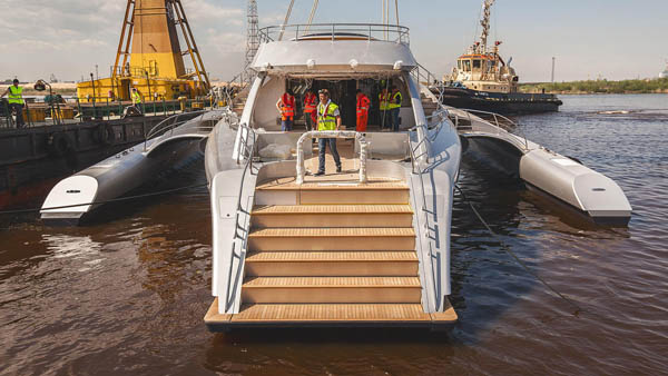 53m Latitude Yachts Multihulls Hold Record for World's Largest Trimaran