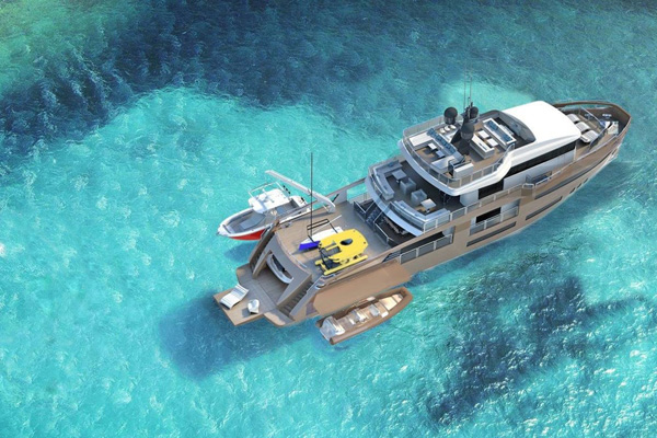 Toy-filled sports utility yacht (the SUY?) floats more fun on the high seas
