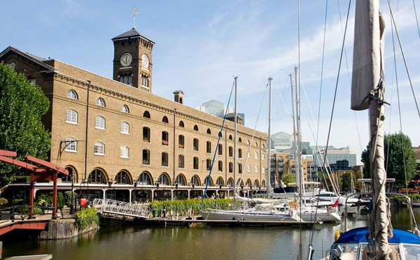 Renovation works at London's St Katharine Docks near completion