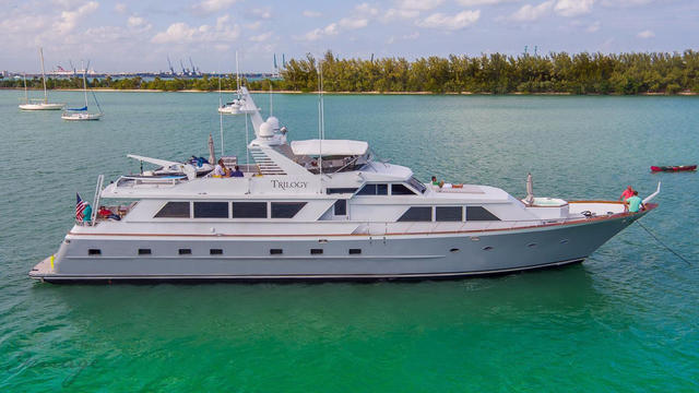 Broward motor yacht Trilogy back on the market