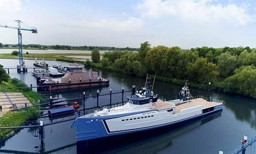 Damen launches 55m yacht support vessel New Frontiers