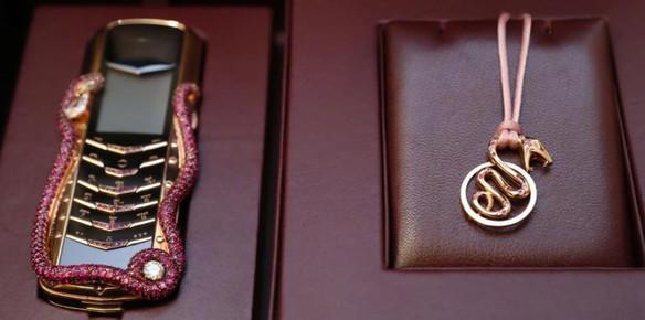 Vertu & Boucheron Team up to Create Ruby-Encrusted Phone