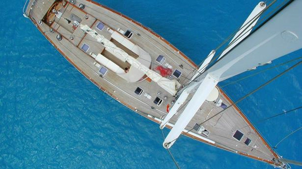 Classic sailing yacht Kim of Lahore listed for sale